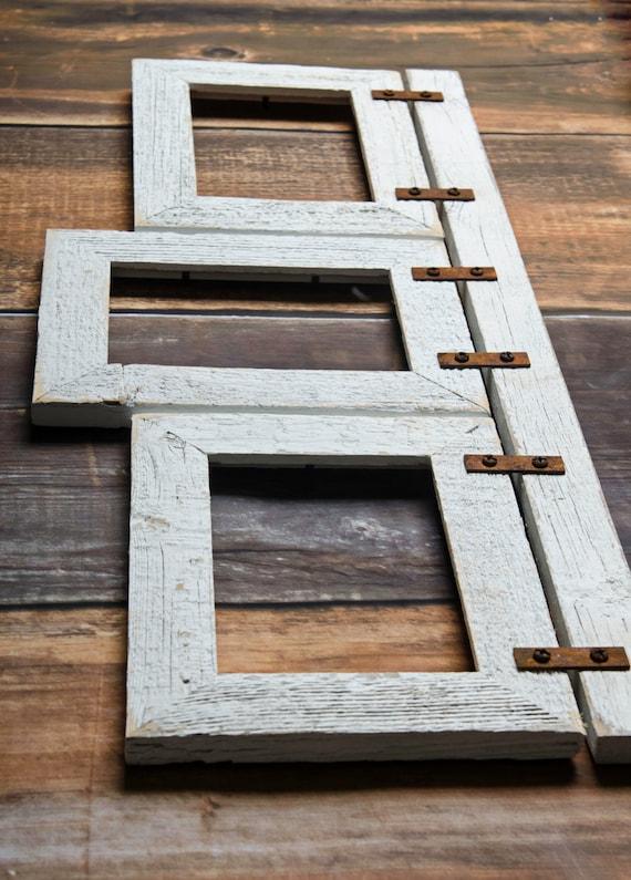 Barnwood Mixed Collage Frame 3 5x7 Multi Opening Frame Etsy