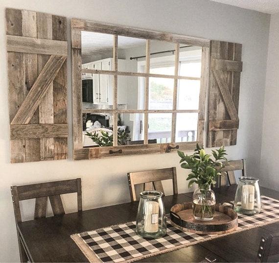 Rustic Dining Room Wall Decor from i.etsystatic.com