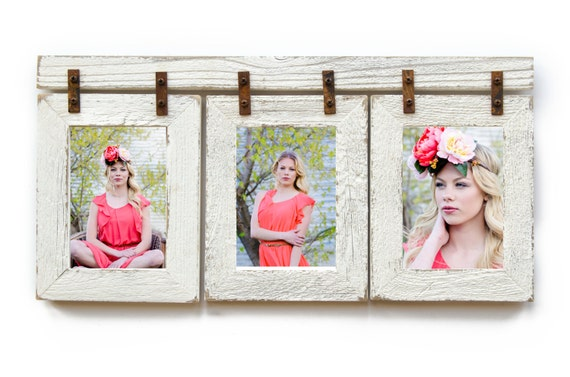 Barnwood Collage Frame 3 4x6 Multi Opening Frame Rustic Etsy