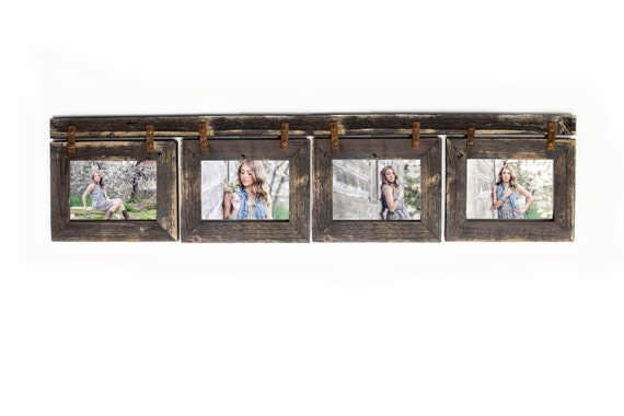 Barnwood Collage Picture Frame. 4 hole 4x6 Multi Opening | Etsy