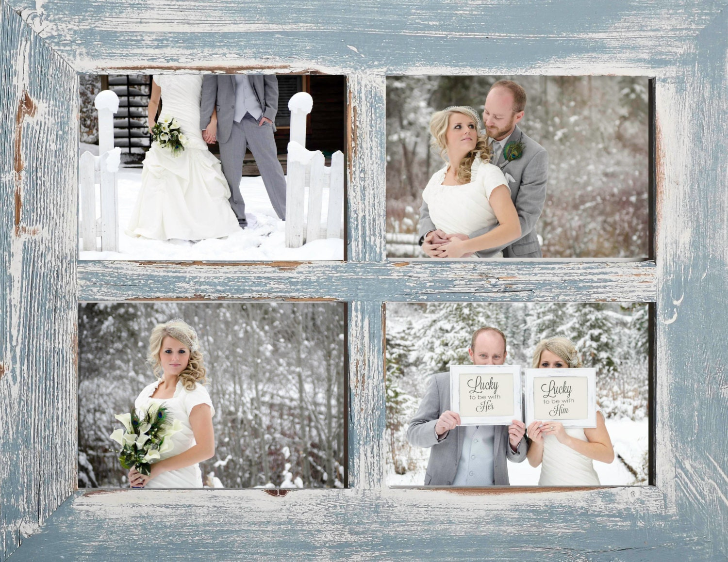 2 4 hole 8x10 Barn Window Collage Picture Frame Sky &   Etsy