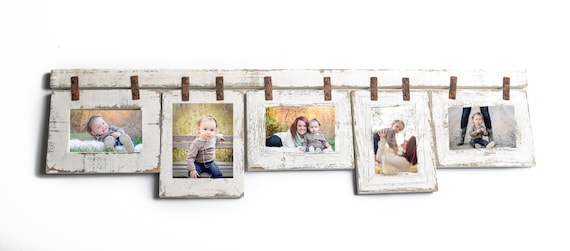 5 Hole 5x7 Picture Frame Collage with Mixed Orientation White | Etsy