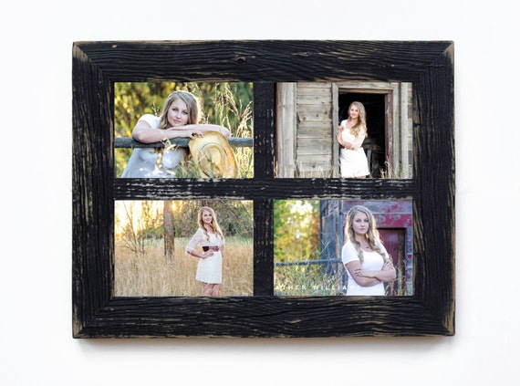 2 4 hole 8x10 barn window collage picture etsy