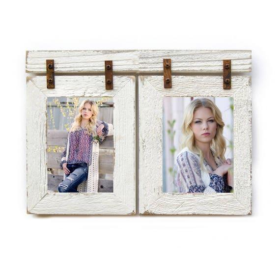 8x10 Barnwood Collage White Frame 2 8x10 Multi Opening Etsy