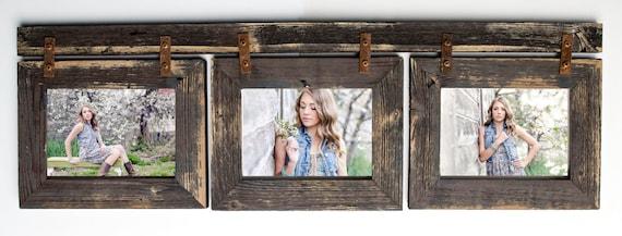 Barnwood Collage Frame 3 hole 5x7 Multi Opening Frame-Rustic