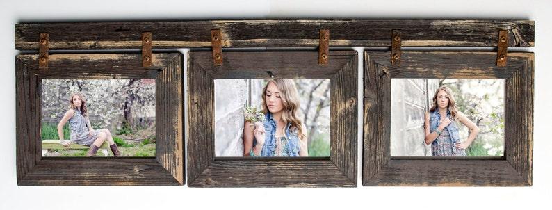 Barnwood Collage Frame 3 hole 8x10 Multi Opening Frame-Rustic image 0