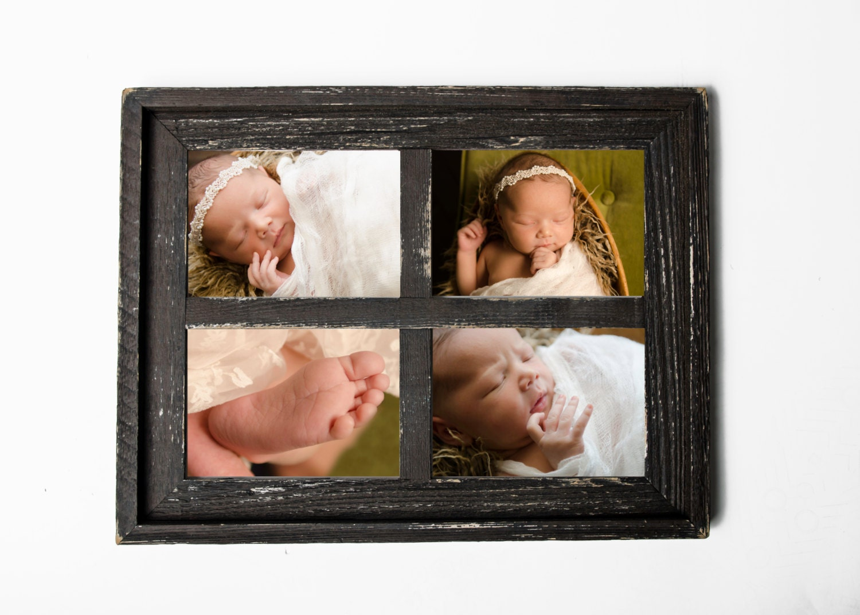 2 5 x 7 apilados granero ventana Collage cuadro marco Navidad