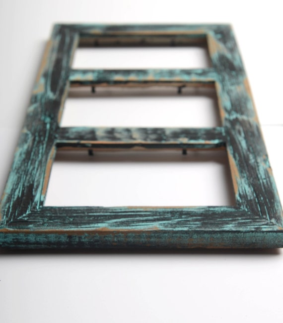 3 hole 4x6 Collage Multi Opening Picture Frame-Rustic Picture