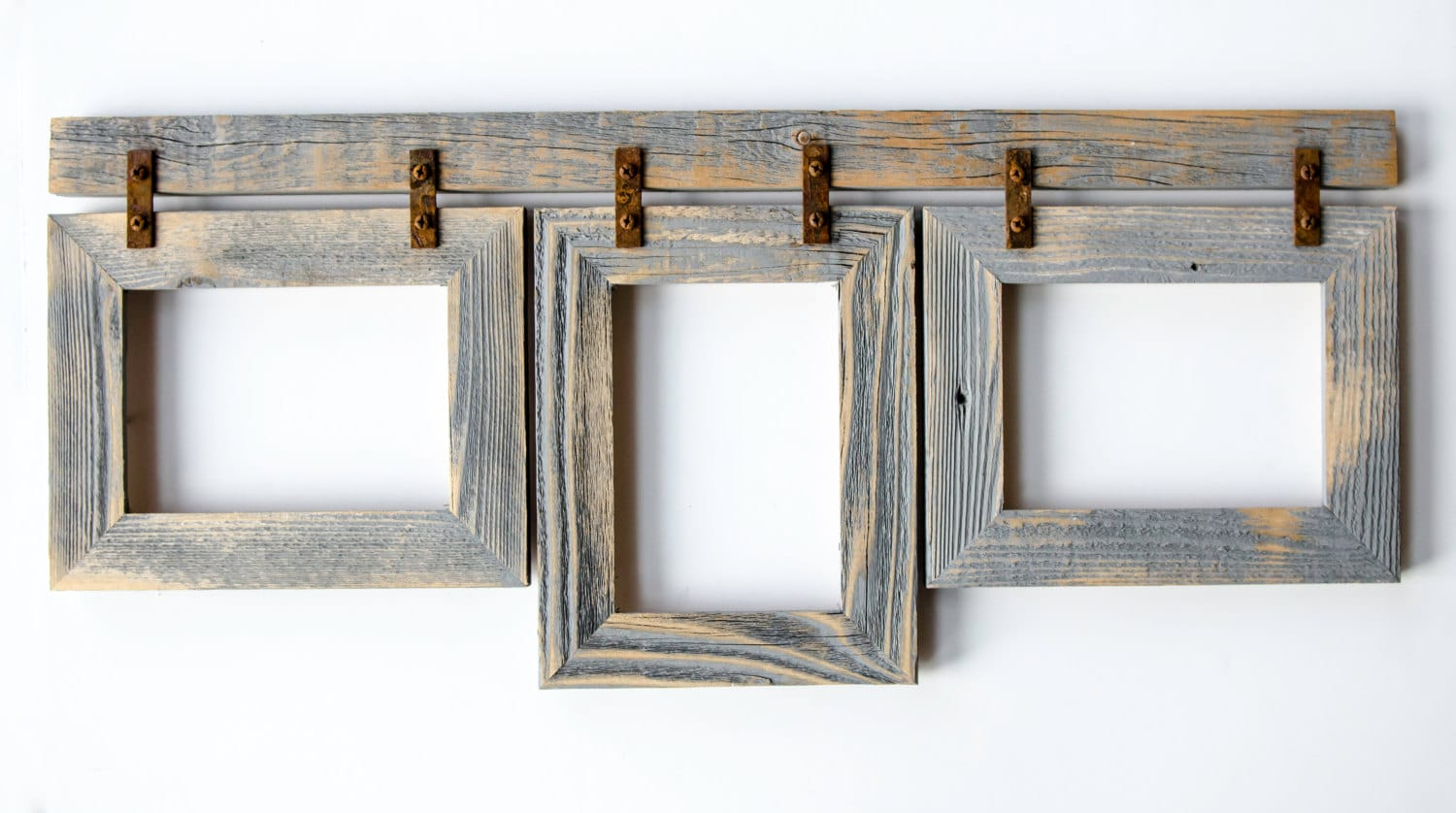 Barnwood Collage Frame 3 5x7 Multi Opening Frame. Rustic