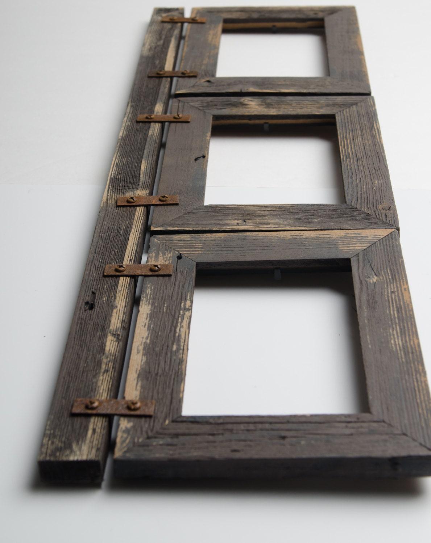 Altholz Collage Rahmen 3 Loch 4 x 6 Multi Öffnung   Etsy