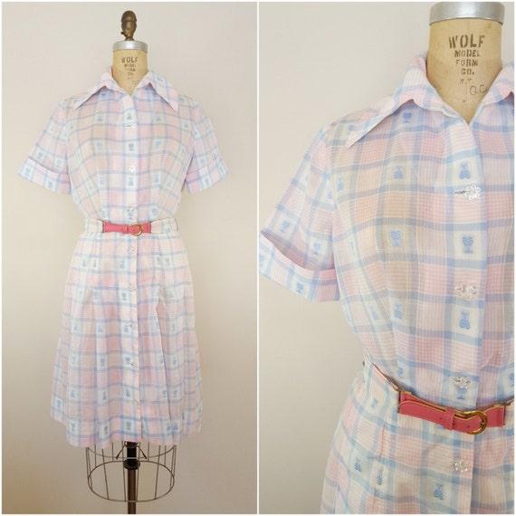 Vintage 1960s Dress / 1950s Dress / Day Dress / Pa