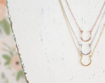 Horseshoe Necklace | Horseback | Horse Shoe | Equestrian | Rodeo | Cowgirl | Riding | Good Luck | Lucky Charm | Minimalist| Mothers Day Gift