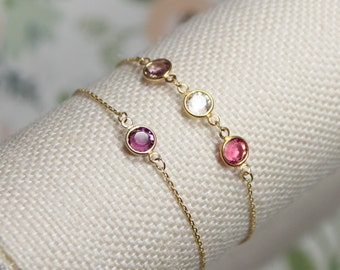 Swarovski Channel Birthstone Bracelet | Grandma Bracelet | Grand Babies | Mommy Bracelet | Anniversary Gift | Birthstone | Mothers Day Gift