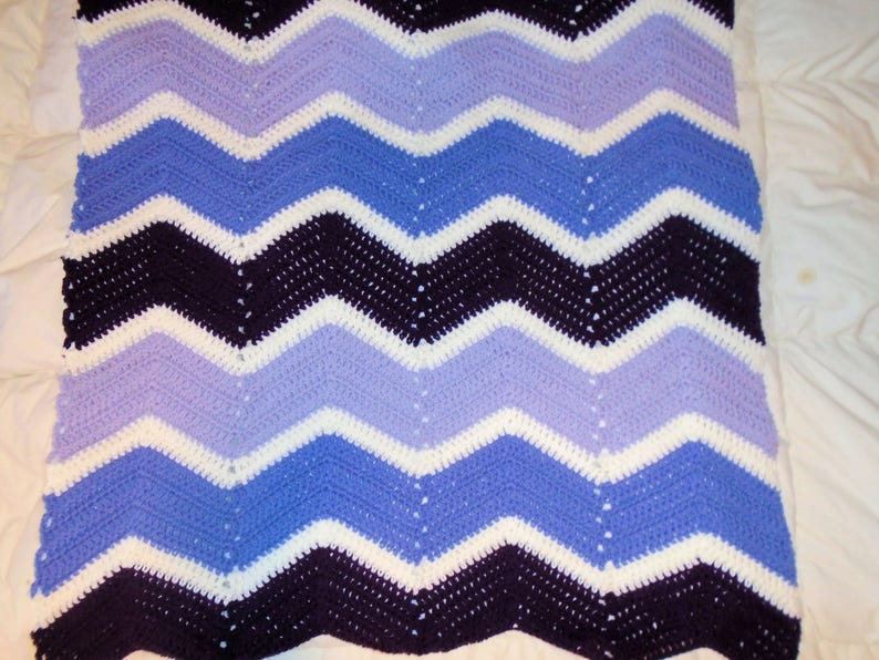 Baby Girl Crocheted Baby Blanket Baby Shower Gift Purple Baby Blanket Handmade baby blanket Baby Gift Crochet Blanket baby bedding