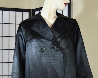 Silk alligator coat