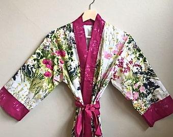8dd7e2504b Mothers Day Gift  Kimono Robe  Kimono  Dressing Gown  Bridal Robe  Bridesmaid  Robes  Floral Bridesmaid Robe  Bridal Robes  Spring is Here.