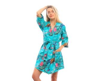 c36e475a1cdaa Peacock Kimono Robe//Kimono Robe// Kimono Robe Short//Kimono Robe  Long//Dressing Gown//Peacock Collection//XS to Plus Size Kimono.