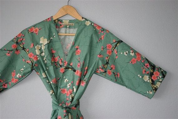 Ready To Ship Xl Knee Length Kimono Robe Kimono Dressing Etsy