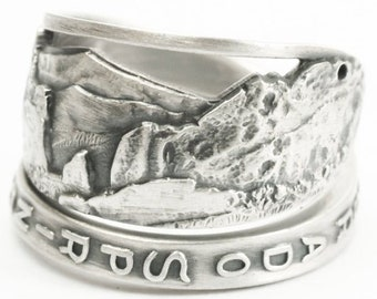 Sterling Silver Gateway Garden Of the Gods National Park Spoon Ring, Colorado Ring, Colodaro Lover Gift for Her, Ring Size 6 7 8 9 10 (7218)