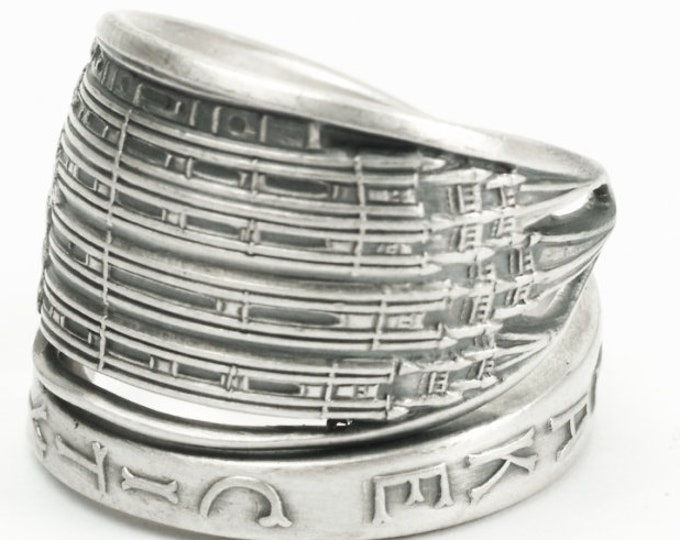 Salt Lake City Temple Ring, Sterling Silver Spoon Ring, Souvenir Spoon, Salt Lake Temple, Utah Jewelry Mormon Jewelry, Custom Ring Size 7178