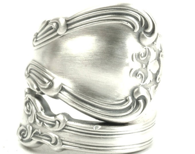 Victorian Spoon Ring, Chantilly Ring, Sterling Silver Spoon Ring, Antique Gorham Silver 1895 Chantilly, Handmade Adjustable Ring Size (6025)