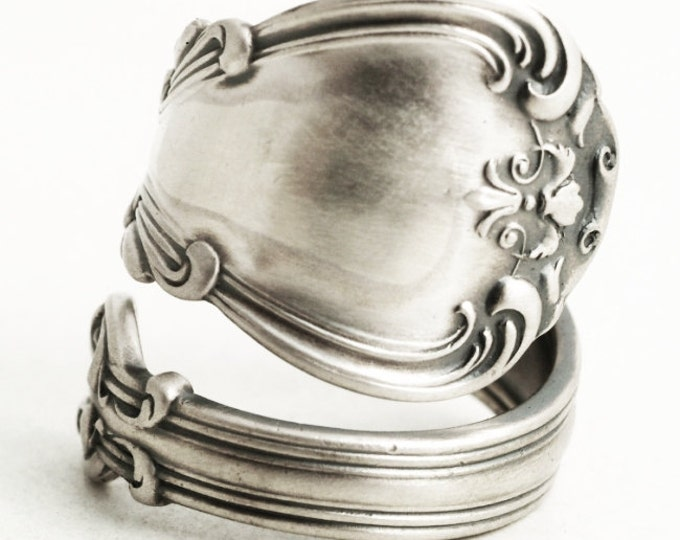 Victorian Spoon Ring, Chantilly Ring, Sterling Silver Spoon Ring, Handmade Ring, Gorham Silver 1895 Chantilly, Adjustable Ring Size (6900)