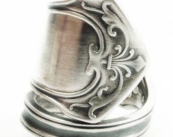 Antique Georgian Ring, Sterling Silver Spoon Ring, Gift For Him or Her, Wood & Hughes Ca 1880 Humbolt, Statement Ring Adjustable Size (7364)