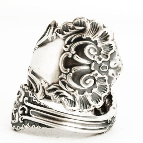 ed611f03d10af Victorian Spoon Ring, Lace Ring, Sterling Silver Spoon Ring, Frilly Ring  Gift, Antique Whiting