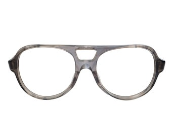 71747e898a7 Vintage Titmus Z87 Smoke Gray Aviator Safety Plastic Rim Eyeglasses