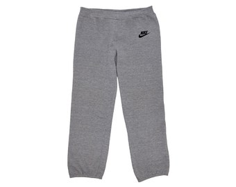 75f65297ce6 Vintage Authentic 80's Nike Warm Up Heather Grey High Waist Tri-Blend  Athletic Sweatpants, Made in USA - Large