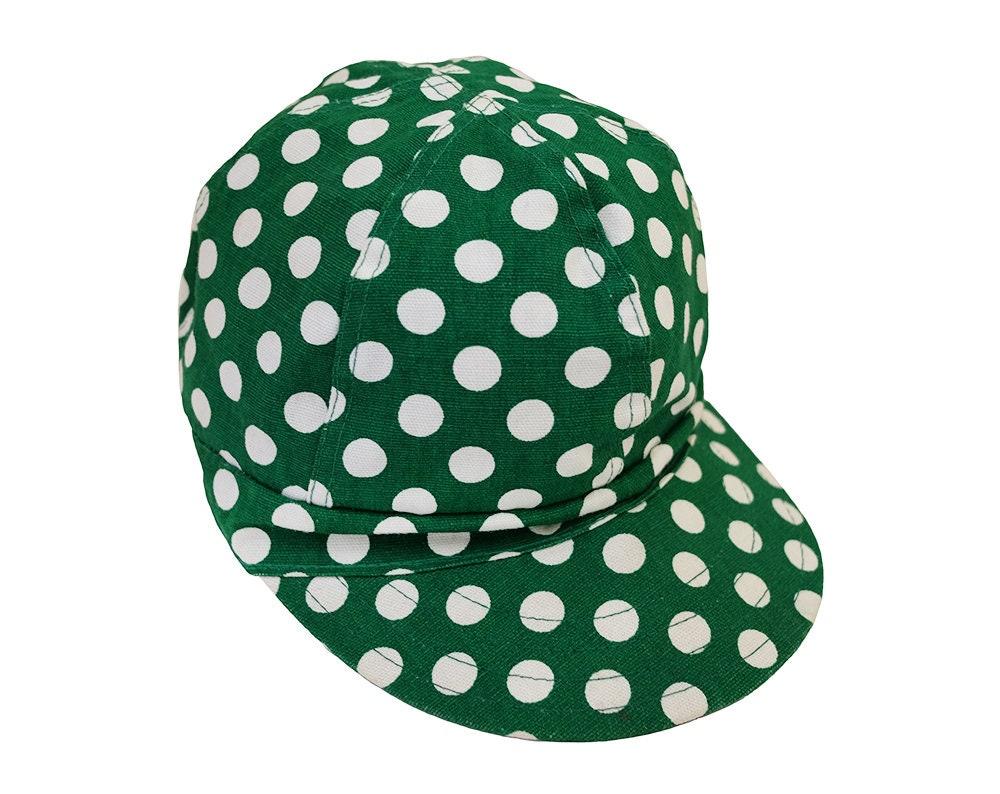 b1510706928 Vintage Kromer Green   White Polka Dot Workwear Welder Cap