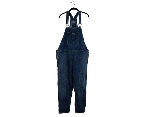 Vintage 90's GAP Dark Blue Denim Cozy Overalls Bib