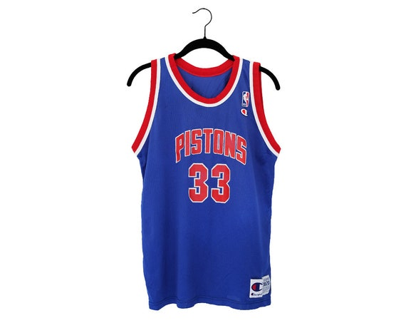 Vintage Grant Hill Detroit Pistons NBA Champion Home Blue  bad8740d3