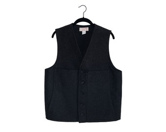 Vintage C.C. Filson Co. Charcoal Black Vest, Made in USA - Size 42