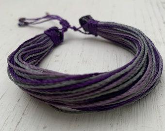 Paint Your Day Purple Blessing Bracelet Hypknotica