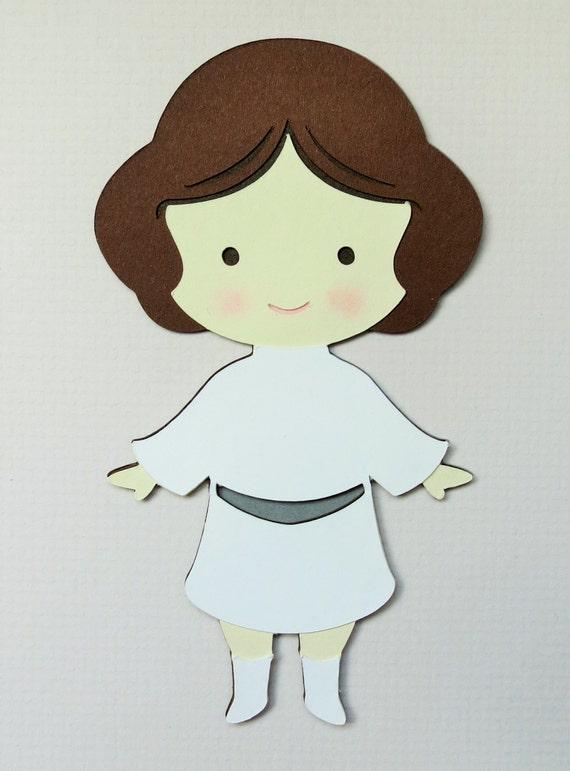 Star Wars Luke Skywalker Paper Die Cut Scrapbook Embellishment
