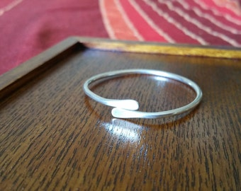Single Sterling silver Baby Bangle.