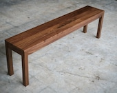 Parsons Bench - Solid Wood - Customizable