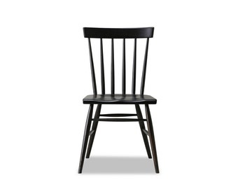 Windsor Chair - Solid White Oak with Charcoal / Black dye - Available in other woods