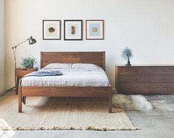 Solid Wood Berkeley Bed Frame and Headboard - Available in other woods