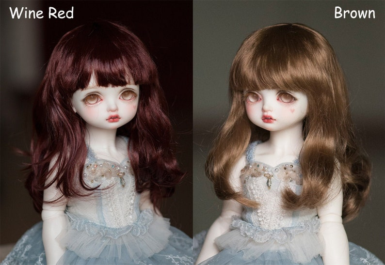 """DOLL WIG LONG CARROT FITS VINTAGE AND MODERN DOLLS SIZE 7//8/"""""""