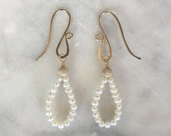 S E E D pearl petal earrings