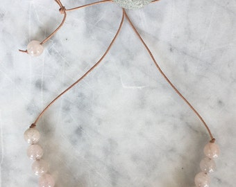 R O S E quartz necklace