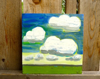 painting of clouds, landscape painting, sky, original painting, art landscape, landscape