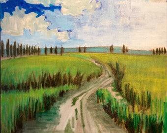 NO LONGER ABAILABLE Landscape 16 x 20 x 1.5 original abstract landscape painting, painting, plen air painting, oil painting, colorado