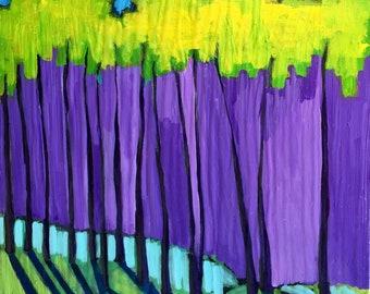 Arapahoe Basin Colorado 8 x 10 x 1.75 gallery wrapped original landscape painting by artist Dara Barth