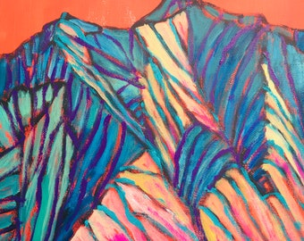 Mount Sopris in Carbondale,Colorado,  a Landscape Painting, 12 x 12 original painting, acrylic painting, plein air