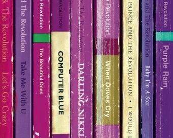 Prince 'Purple Rain' Album As Books Poster Print | Literary Print | Penguin Books | Music Poster Art