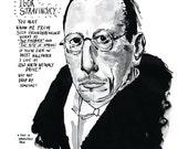 Igor Stravinsky poster print Great Classical Music Composer