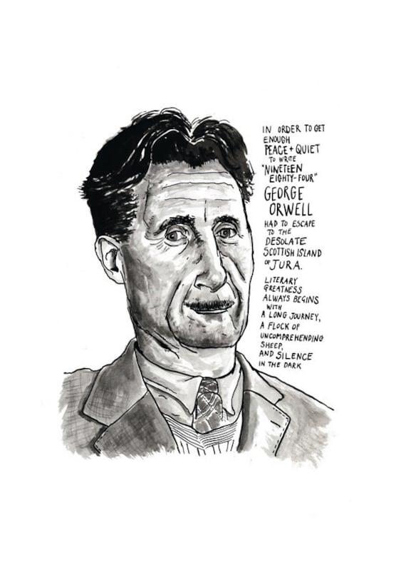 Eric Arthur Blair GEORGE ORWELL 1984 printable art collection 3rd edition